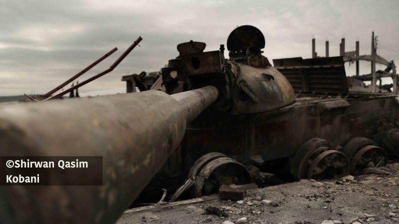 Verheerende Terrororganisation islamischer Staat Tank