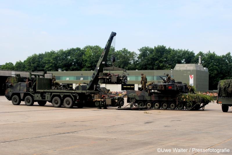 Motorwechsel beim Kampfpanzer Leopard 2