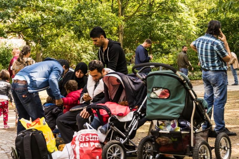 Flüchtlinge in Berlin Aufnahmestelle Moabit