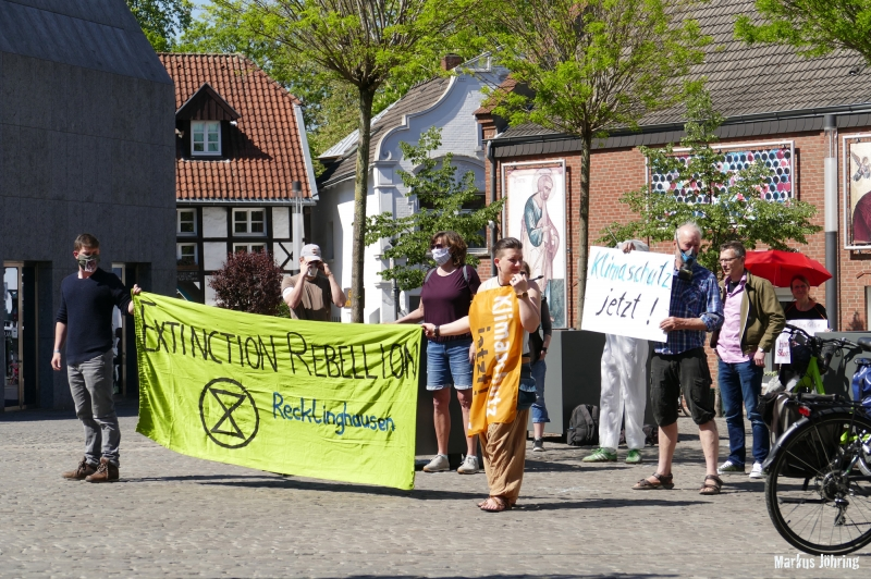 Extinction Rebellion · 23.04.2020 · Recklinghausen/Kirchplatz St. Peter