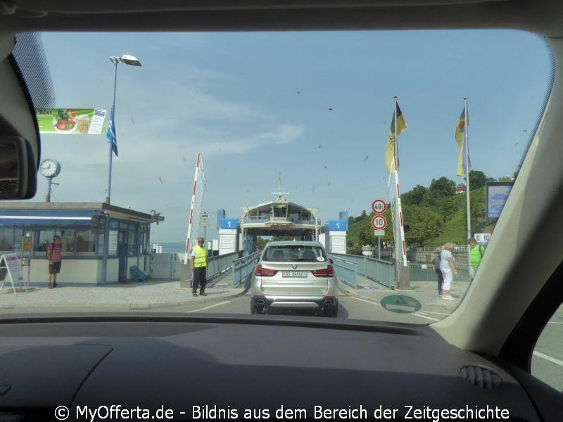 Die Fähre-Fahrt von Meersburg nach Konstanz dauert 15 Minuten