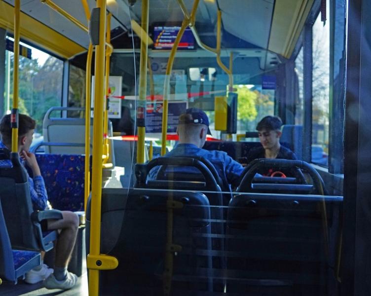 Stadt Essen im Bus