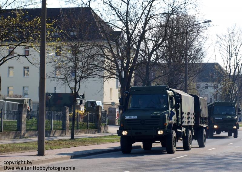 Teile vom Artillerieregiment 100 verlässt die Görmar-Kaserne in Mühlhausen