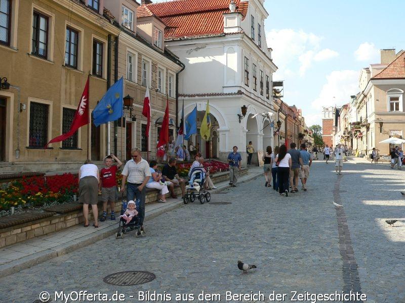 Die Stadt und die bekannteste in der Region eine Eisdiele.