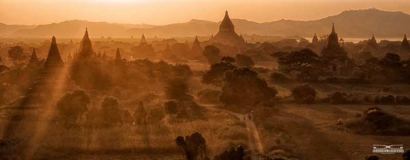 Pagodenlandschaft in Bagan, Myanmar