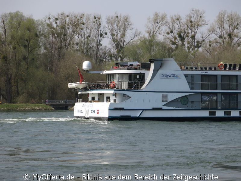 Ein Tag vor dem Frühling am Rhein in Leopoldshafen