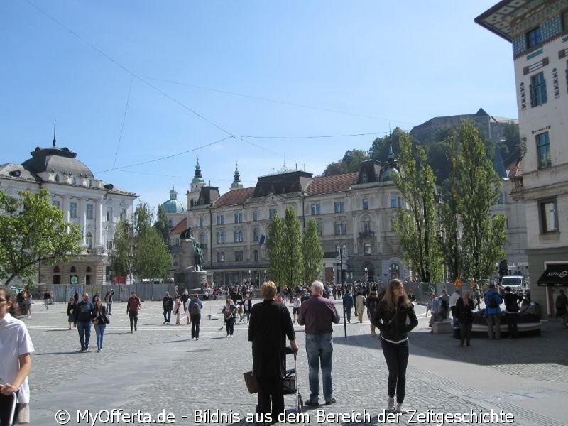 Ljubljana, die Hauptstadt Sloweniens, gesehen im September 2019
