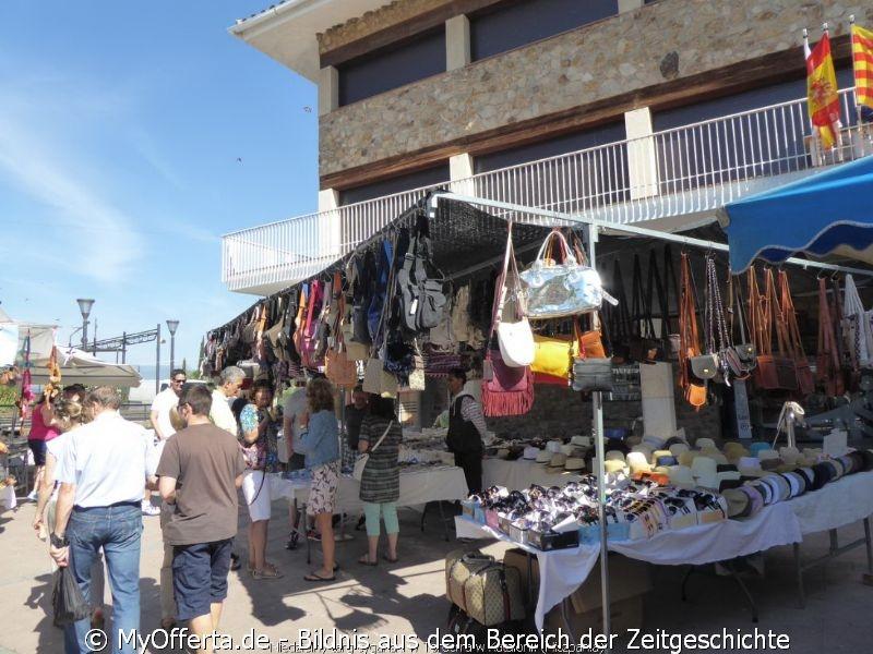 Der Sonntagszigeunermarkt in Tordera, Katalonien, Spanien