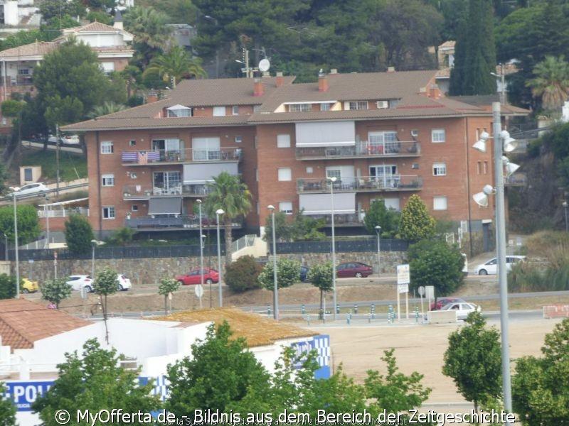 Santa Susanna fotografierte vom Balkon des Montagut Hotels