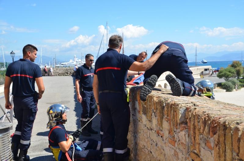 Feuerwehrübung in Antibes Juni 2017