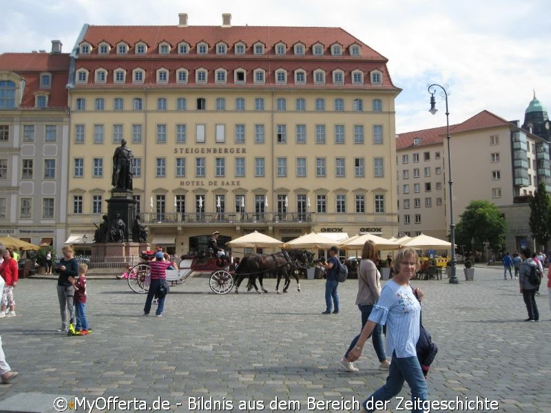 Dresden, Altstadt im Sommer 2019